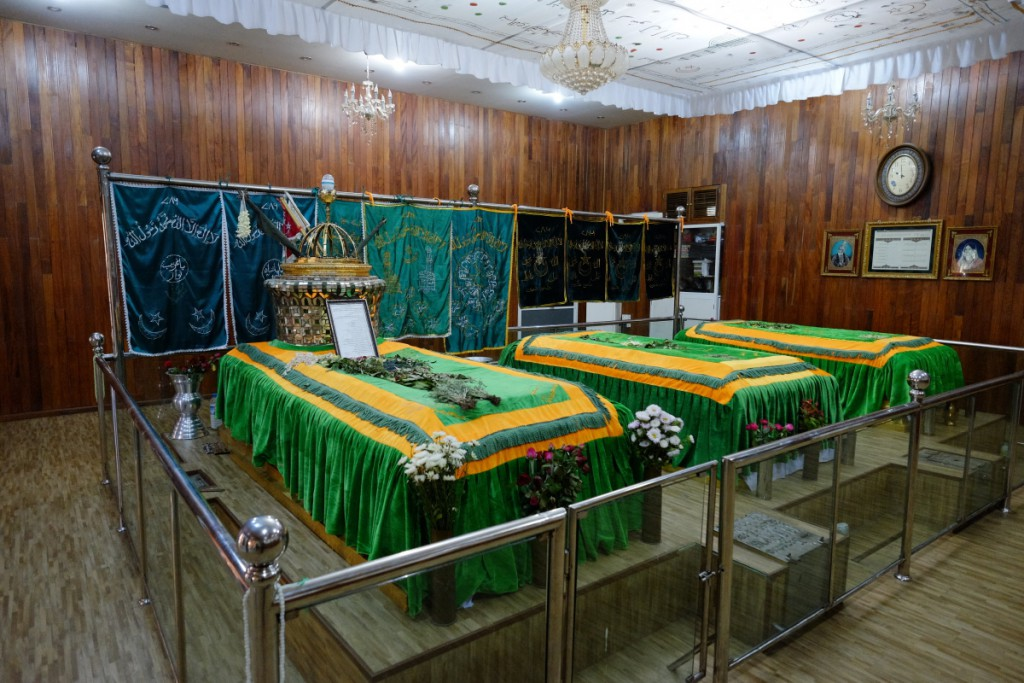 Zafar and his family's grave
